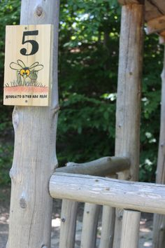 Campsite sign- We think we are funny- www.gordonspark.com