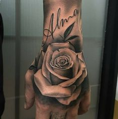 tattoos for men, rose tattoo, hand rose tattoo, on hand tattoo, rose covering tattoo Rose Tattoos For Men, Hand Tattoos For Guys, Hand Tats, Trendy Tattoos, New Tattoos, Body Art Tattoos, Sleeve Tattoos, Tattoos For Women, Cool Tattoos