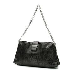 Pre-Owned Louis Vuitton Perfore Lutece Python Bag - Black ($2,430) ❤ liked on Polyvore featuring bags, handbags, black, pre owned purses, python purse, handbag purse, pre owned handbag and snake print purse