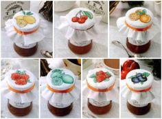 ovocné cross-steh, jednoduché a komfortní barevná schémata, vyšívané kříž miniatury pro povrchové plechovky