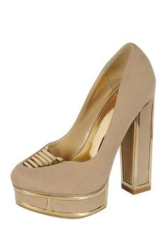 Citronelle Two-Tone Pump by LILIANA