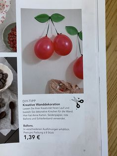 Ikea, Vegetables, Red Balloon, Room Wall Decor, Paper Board, Creative, Crafting, Ikea Co, Vegetable Recipes