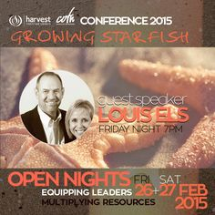 GUEST SPEAKER LOUIS ELS Will be with us at our Friday Open Night  #HarvestCOTN15  All Welcome.