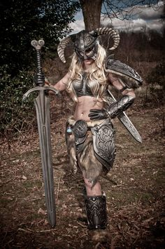 Skyrim Barbie 4 - Great Sword by AndrewDobell.deviantart.com on @deviantART