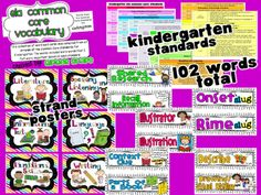 Common Core Classrooms: ELA and Math Common Core Word Wall Cards for all grades K-5!