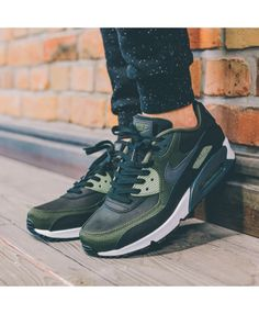 833abb5393 Buy the latest fashion Nike Air Max 90 Premium Black/Legion Green/Palm Green/Anthracite  Men's Shoes save up to off.