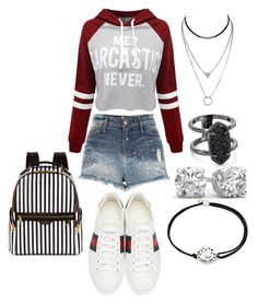 """""""76hj"""" by bama02614 on Polyvore featuring WithChic, River Island, Gucci, Henri Bendel, Kendra Scott and Alex and Ani"""