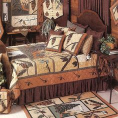 patch magic quilts pinecone bedding by patch magic quilts comforters comforter sets duvets rustic cabin decorrustic cabinslog - Lodge Decor