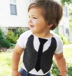 Boy Outfit // Boy Clothes // Gray Vest and Black Tie // Sunday Man Baby Boys, Baby Boy Vest, Toddler Vest, Boy Onesie, Cute Outfits For Kids, Baby Boy Outfits, Cute Kids, Cute Babies, Kid Outfits