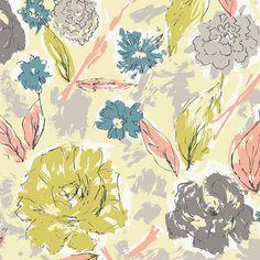 Paper Flowers Aurora Knit by Art Gallery