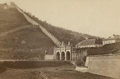 Újezdská brána a Hladová zeď, kolem 1875, vizitka