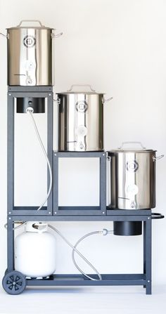 Local homebrewers launch product to make brewing easier – Beer brewing equipment – Different types Nano Brewery, Home Brewery, Brew Stand, Beer Cellar, Beer Brewing Kits, Home Brewing Equipment, Homemade Beer, Brew Pub, Beer Tasting
