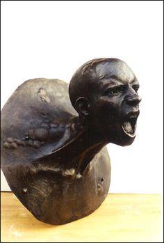 SCREAMING HEAD  created by my amazing sister <3  www.hannahstewartsculpture.co.uk