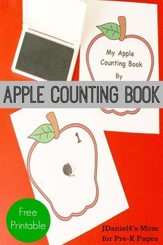 Printable Apple Counting Book. Perfect for a fall theme in your preschool classroom!