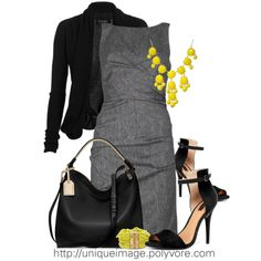 Gray and black always complement each other.... Add that awesome stilettos is simply perfect! :)