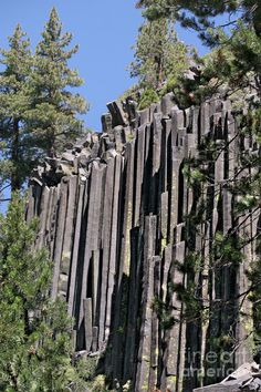 Devils Postpile National Monument - Mammoth Lakes - east California by Christine Till California Camping, California Usa, Mammoth Lakes California, Northern California, Joshua Tree National Park, National Parks, Mammoth Mountain, All Nature, The Great Outdoors