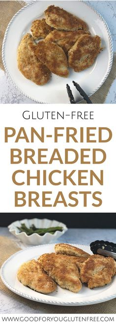 Learn how to make the perfect gluten-free pan fried chicken breast recipe. In this post I share with you the best GF breadcrumbs and techniques to create crispy yet juicy breaded chicken breasts. Fried Breaded Chicken, Fried Chicken Breast, Chicken Breasts, Best Gluten Free Recipes, Gluten Free Recipes For Dinner, Dinner Recipes, Sin Gluten, Fitness Models, Eggplant Recipes