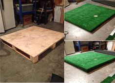 Use a pallet to create an indoor green to practice your put!