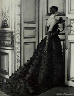 Couture Allure Vintage Fashion: Jean Patou Ball Gown, 1957