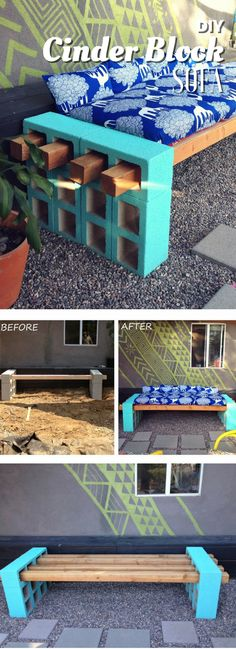How to build an easy #DIY outdoor bench or sofa. Great project!