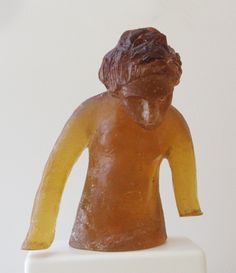 "Micaela Amato, ""Orange Standing Figure,""   cast glass, http://www.morganglassgallery.com/imagepages/amato_orange_standing.htm"