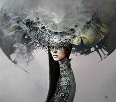 Karol Bak paints using oil on canvas and often works on a few paintings at the same time. He creates realistic canvasses with many of his figurative works being inspired by myth and mythology. He works and lives in Poznan. Contemporary Artists, Modern Art, Art Du Monde, Psy Art, Angels And Demons, Cool Sketches, Figure Painting, Dark Art, Amazing Art