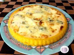 La crostata di polenta ai quattro formaggi - polenta pie with four cheeses Antipasto, Polenta Recipes, Savoury Baking, Frittata, Crepes, Italian Recipes, Buffet, Good Food, Food And Drink