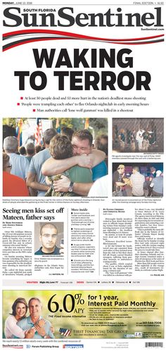 Sun Sentinel | Today's Front Pages | Newseum