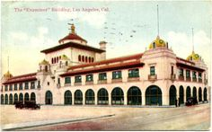 Postcard of Julia Morgan's ornate Herald-Examiner building
