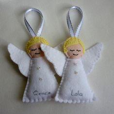 Personalised Felt Angel Handmade Ornament by rosecottagedesignss, £6.00
