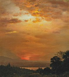"""Looking West from Olana"" by Frederic Edwin Church, Hudson River School of American landscape painters, 1826-1900"