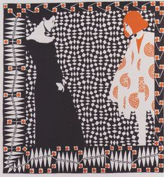 Early spring. Illustration to a poem by Rainer Maria Rilke. - Koloman Moser