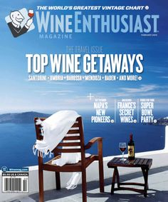 Wine Enthusiast Magazine's 10 Best Wine Travel Destinations 2014 incuding Aegean Islands, Baja and more. Wine Ratings, Wine Enthusiast Magazine, Wine Tourism, Travel Magazines, Wine Parties, Wine Online, Worldwide Travel, Travel News, Wine And Spirits