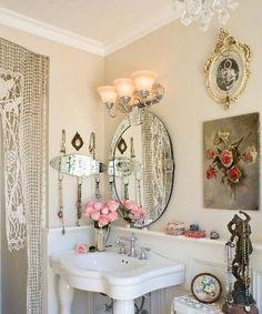 Shabby Chic on Friday - Idee per un bagno very shabby | Romantic ...
