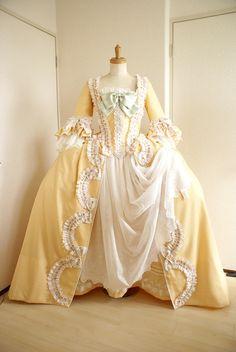18th Century Dress, 18th Century Costume, 18th Century Clothing, 18th Century Fashion, 1700s Dresses, Old Dresses, Vintage Dresses, Vintage Outfits, Rococo Fashion
