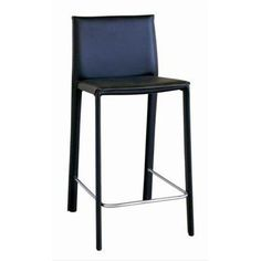 Wholesale Interiors Goneril Low-back Leather Counter Stool (Set of 2) 384