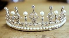 Princess Mary of Denmark's diamond tiara with added (removable) pearls