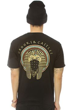 The Pharoah Tee in Black by Crooks and Castles
