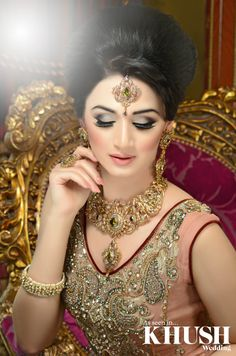 How flawless is this hair and makeup! We love this look created by Sami at Zara's Bridal Studio (ZBridal)   Available for bridal bookings and training nationwide:  Bridal Bookings: +44 (0)7891 883 703 Training: +44(0)7826 555 929  www.zbridalstudio.com  Outfit: Revaaj Jewellery:Zfs Collection