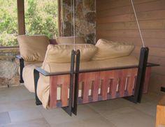 Spanish Cedar Porch Swing Bed