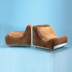 Luigi Colani; 'Orbis' Lounge Chairs for Cor, 1969.