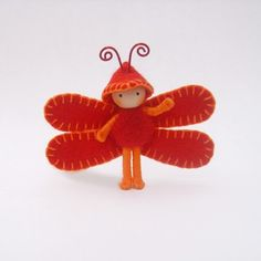 Fiery Orange and Red Tiny Dragonfly