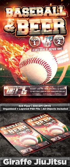 Baseball Flyer | Flyer template, Fonts and Event flyers