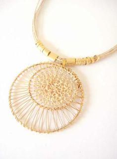 Buriti straw necklace  / #biobijoux