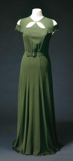 Lucien Lelong, evening dress, circa 1935