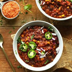 Hearty, nutritious, red lentil chili made in 1 pot with simple ingredients! A smoky, flavorful, protein- and fiber packed plant-based meal.