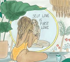 Good Happy Quotes, Happy Words, Self Love Quotes, Body Positive Quotes, Psy Art, Feminist Art, Body Love, First Love, Illustration Art