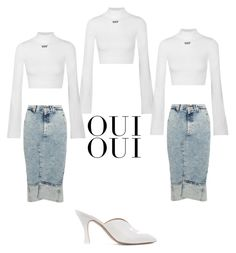 """""""O"""" by pjhappy ❤ liked on Polyvore featuring Attico, Off-White, Bassike and Oui"""