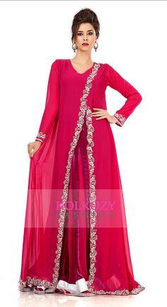Caftan de robe rouge maxi - Khaleeji Thobe Dubaï caftan Farasha robe