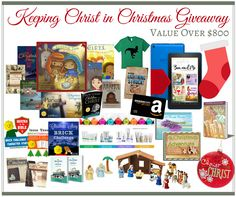 Keeping Christ in Christmas Giveaway ~ Over $800 in goodies, and $100 in freebies for all entrants! Ends 12/1/16